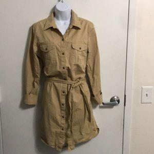 Ralph Lauren Safari Utility Shirt Dress Sz L